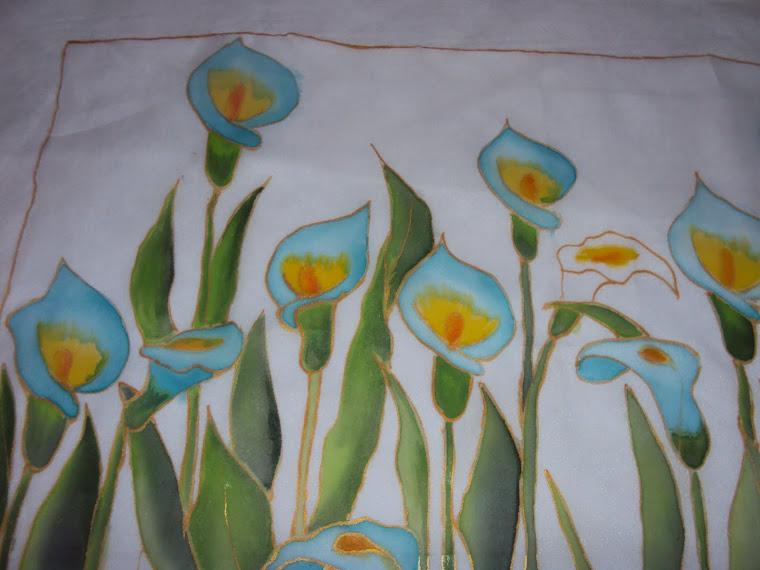 Pintura em Voil - Copos de Leite