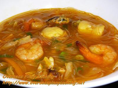 Seafood Sotanghon Soup