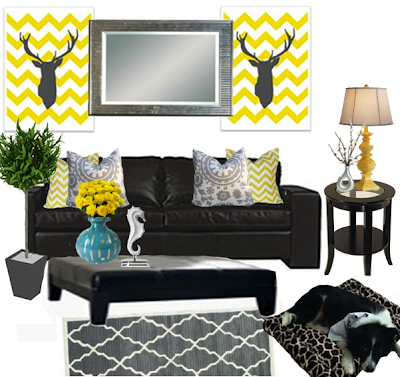 Nicole rene design weddings events home decor fashion for Home decor yellow and gray