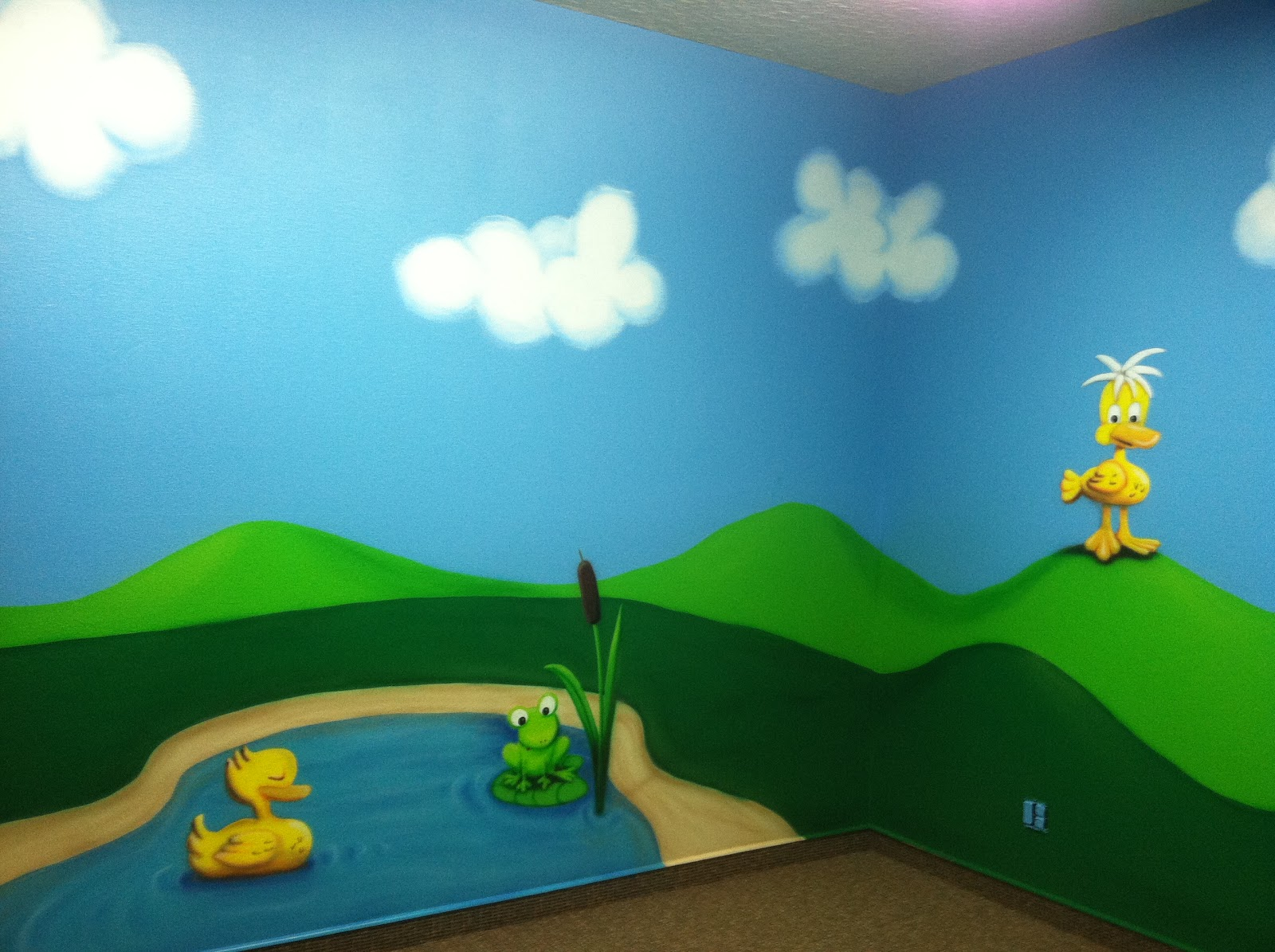 Growing pains at radiant church equals more mural work for Duck pond mural