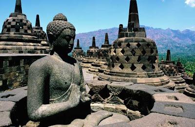 Gambar Arca Candi Borobudur, bagus, hitam, budha