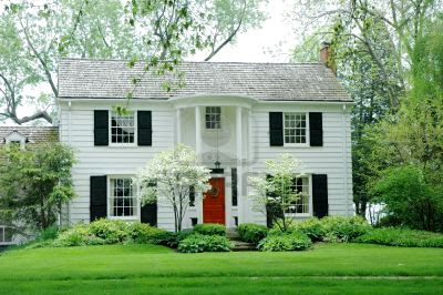 My white house on pinterest 26 pins for Black and white house exterior design