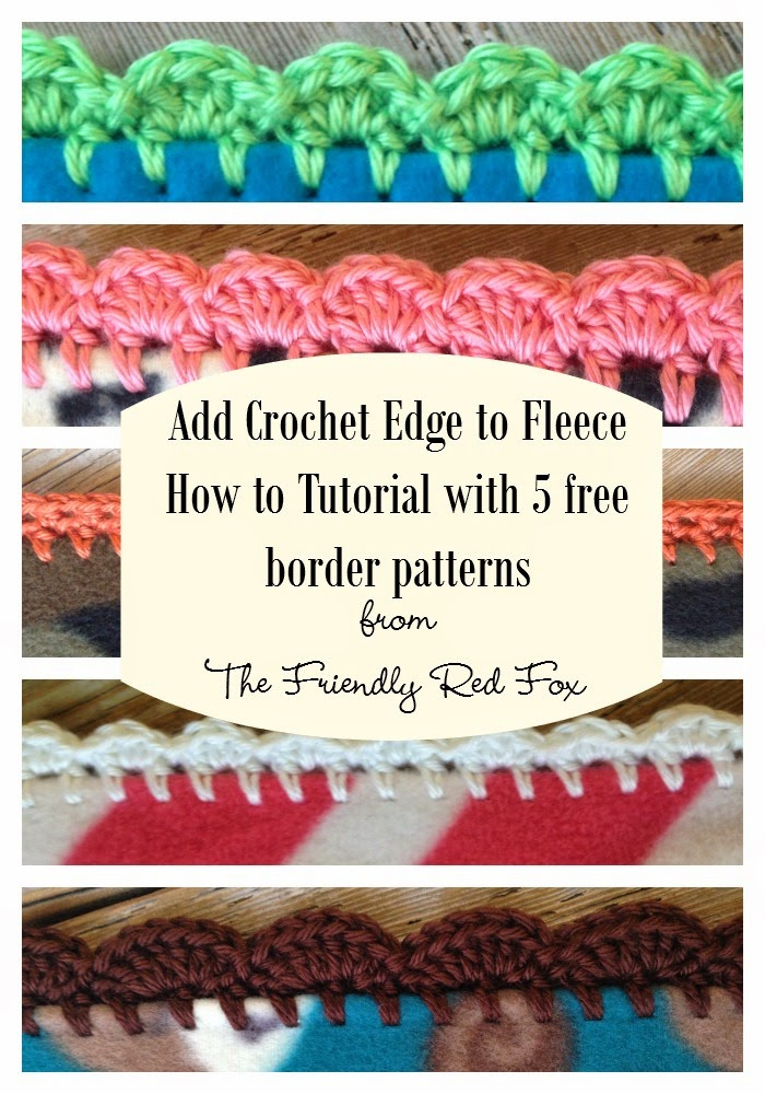 Crocheting Edging On Fleece : Crochet Edge on Fleece Blanket Tutorial - The Friendly Red Fox