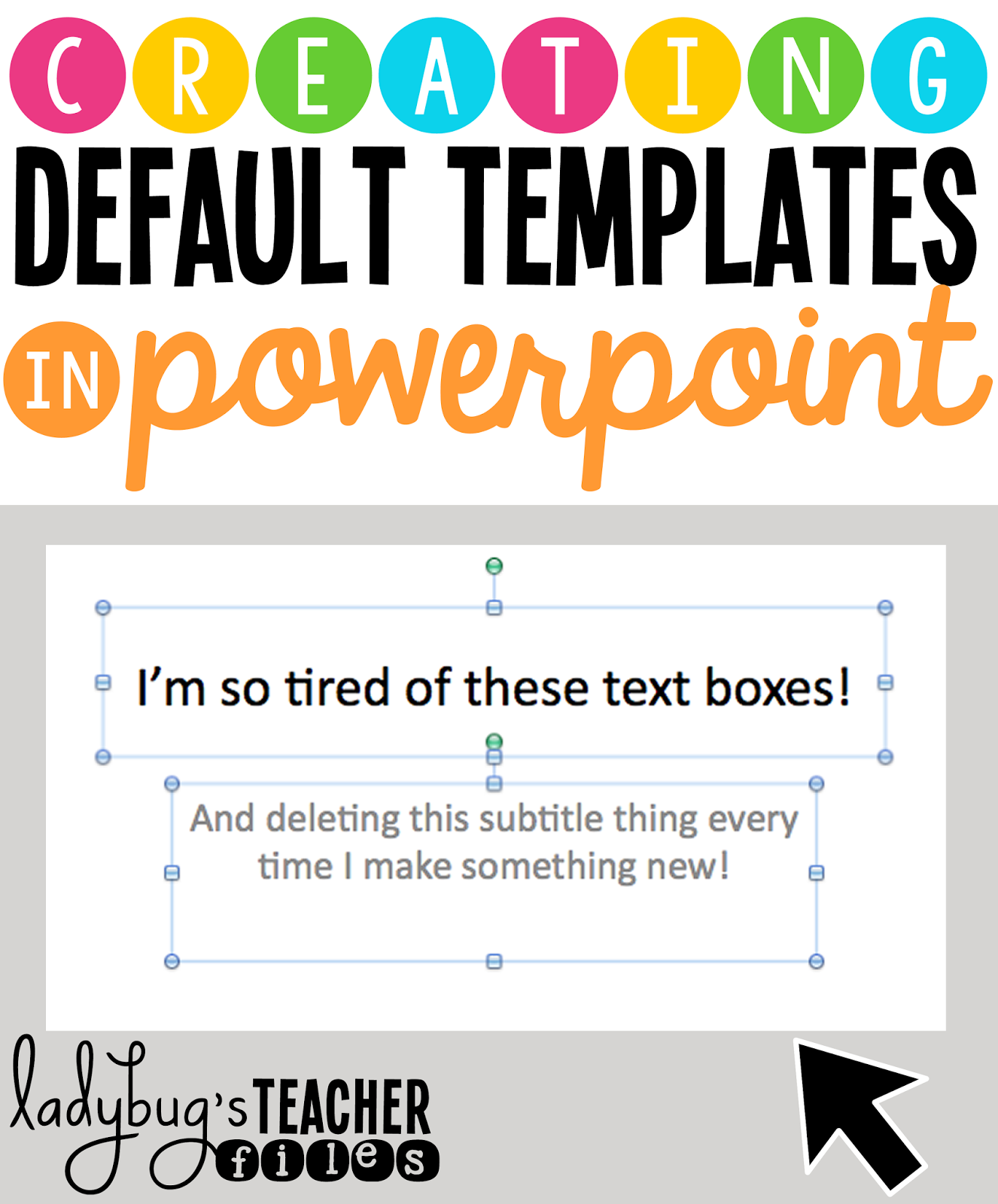creating default templates in powerpoint ladybugs