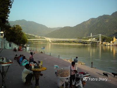 The Suspension bridge - Laxman Jhula in Rishikesh