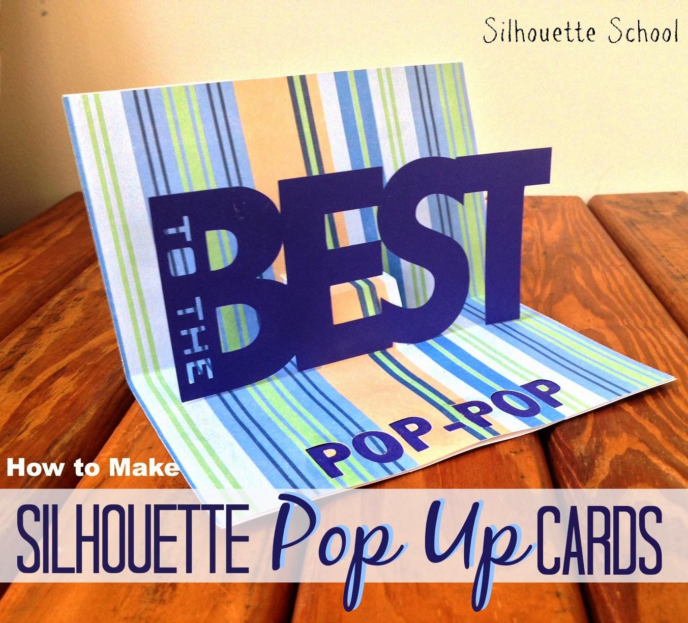 basic silhouette pop up card tutorial free .studio pop up, Birthday card