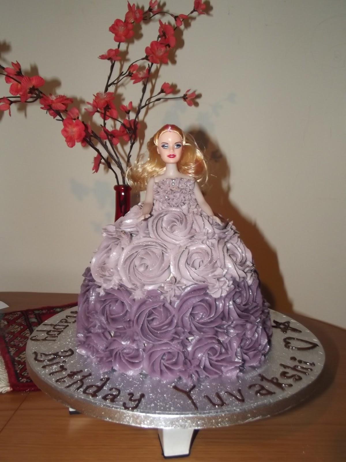 Doll Cake Buttercream Style of Doll Cake Before