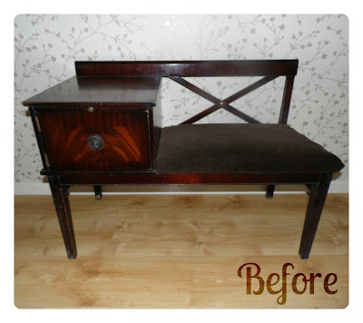 telephone table upcycle project
