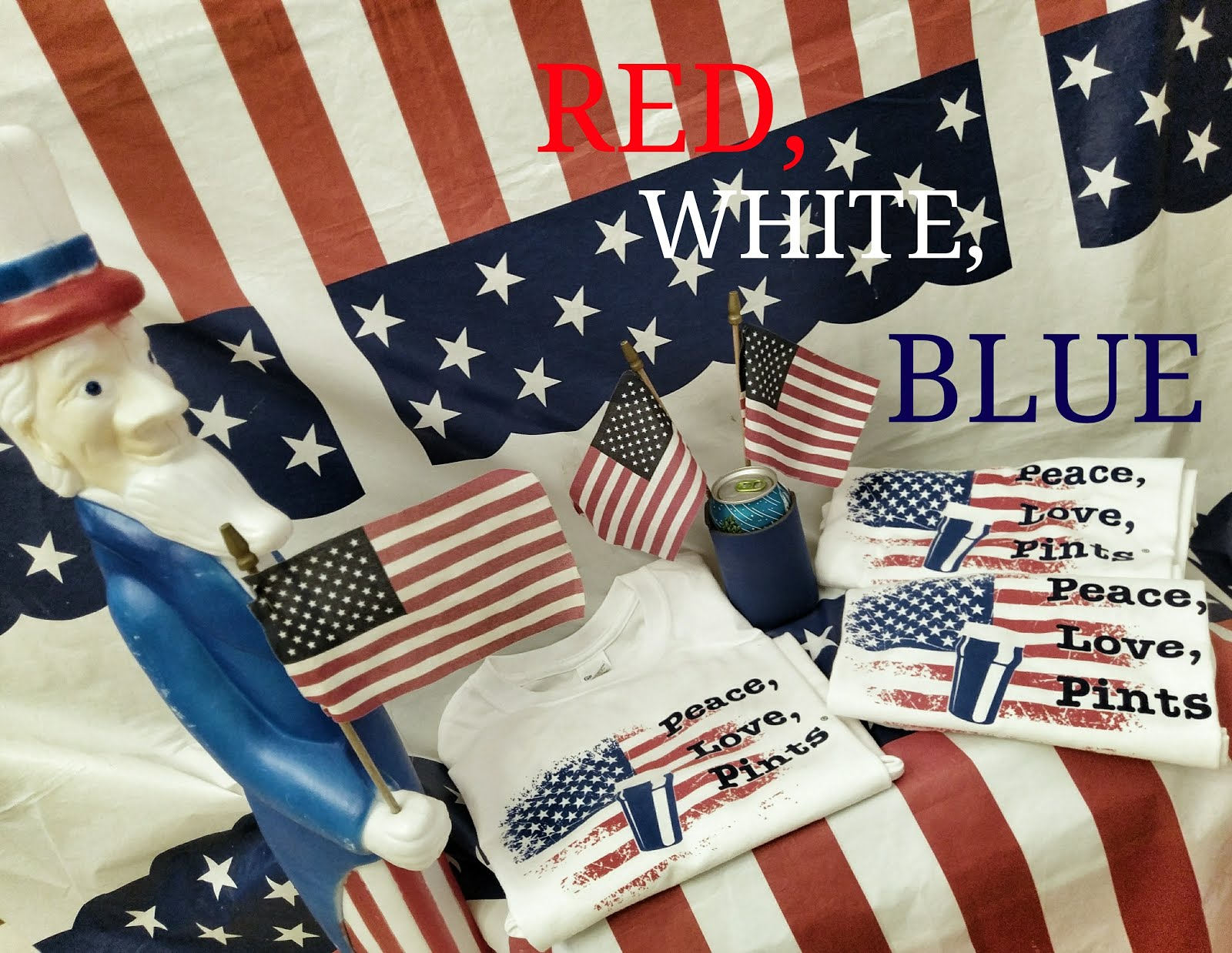 RED, WHITE & BLUE for Summer! did someone say beershirt?