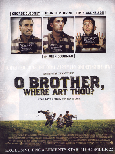 O Brother, Where Art Thou Movie Poster Try These Double Featu...
