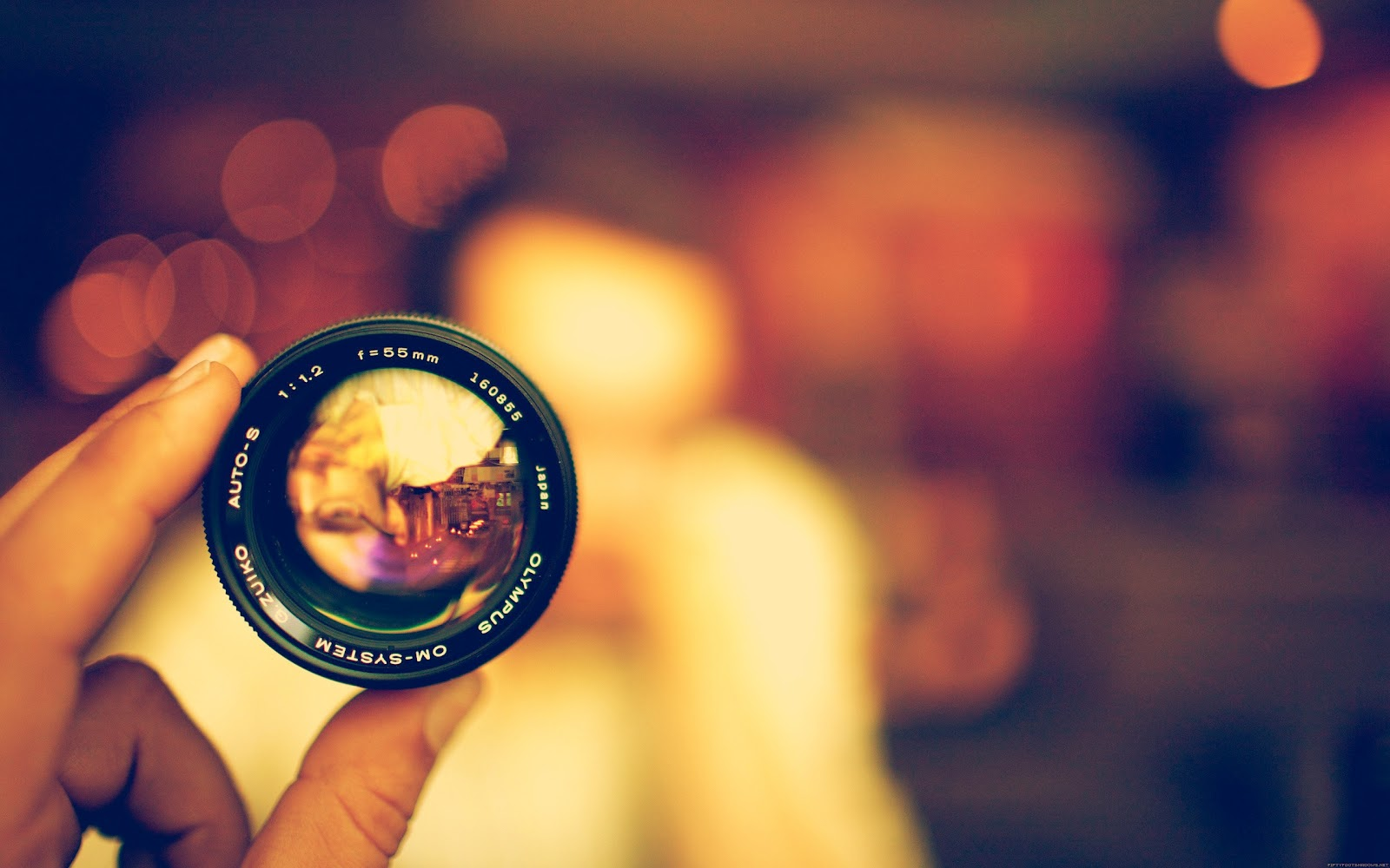 olympus lens light circles hd wallpaper | download hd wallpapers