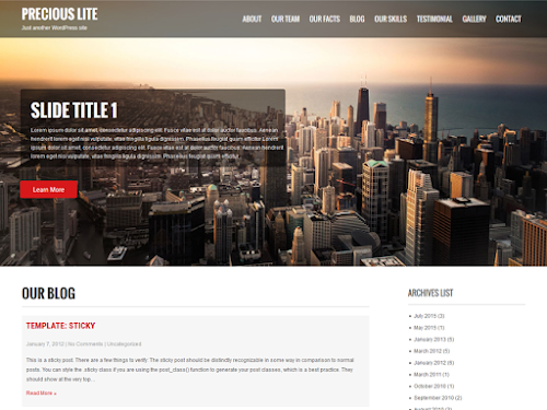 Download Tema WordPress Precious Lite