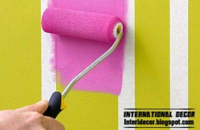 How to paint stripes on wall, striped walls, stripe painting