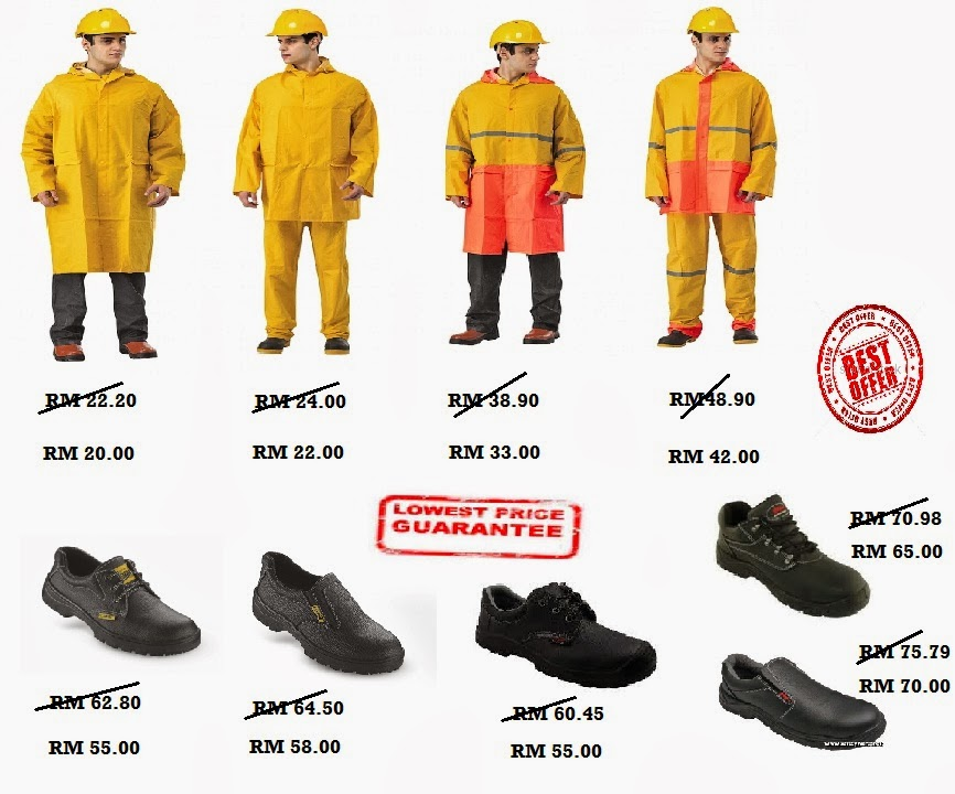 MeGA SaLe Rain Coat Safety Shoes