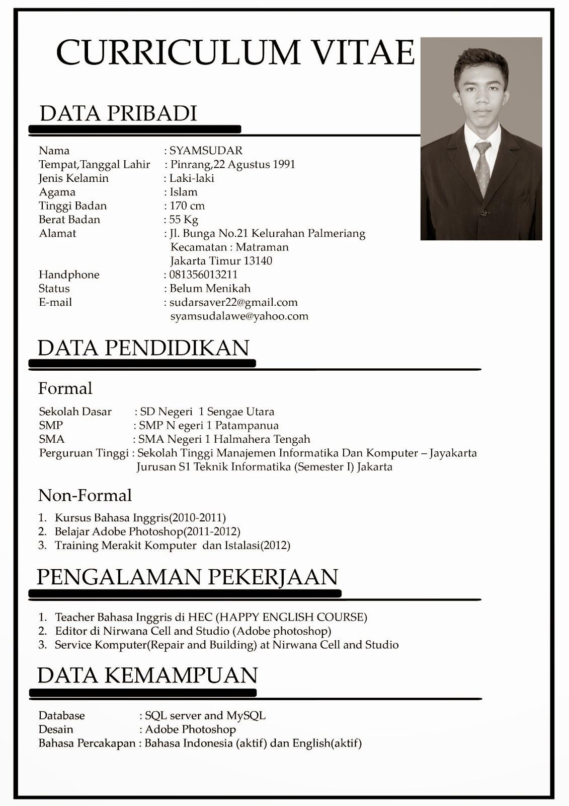 Contoh CV