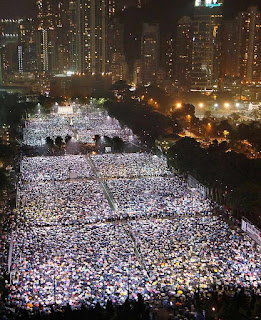 Vigília pode ser a maior da história de Hong Kong por Tiananmen