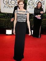 Алисън Уилямс в права рокля с ресни черно и бяло на Alexander McQueen - Златен глобус 2014