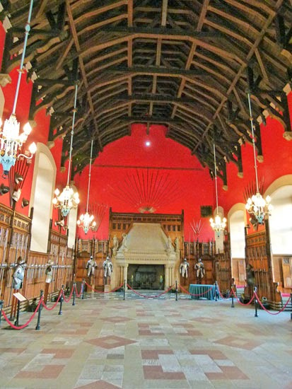 King James IV, hammerbeam roof, suits of armour, weapons, Edinburgh