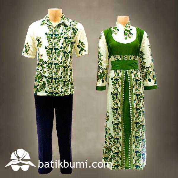 Batik Gamis Motif Batu Hijau