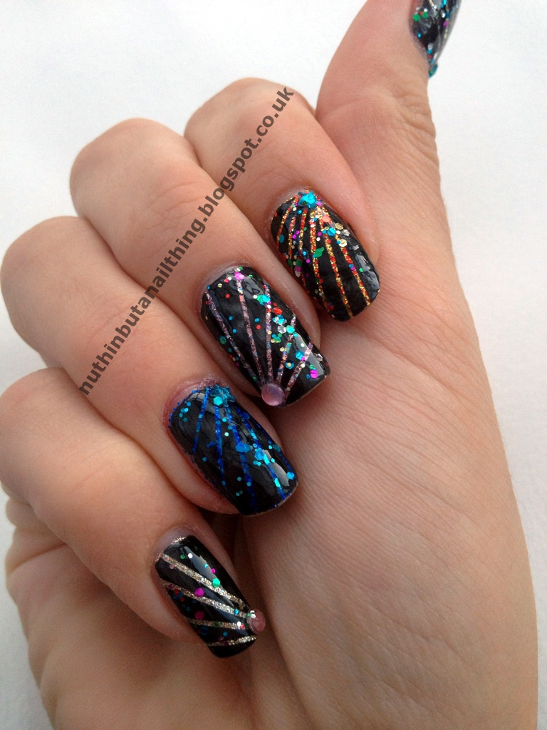 Fireworks nail art nuthin but a nail thing baby