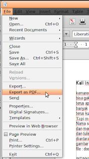 cara convert doc ke pdf di linux