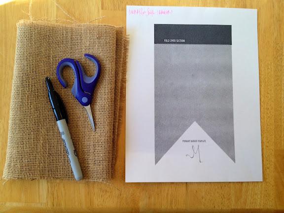 marta writes diy burlap pennant banner tutorial. Black Bedroom Furniture Sets. Home Design Ideas