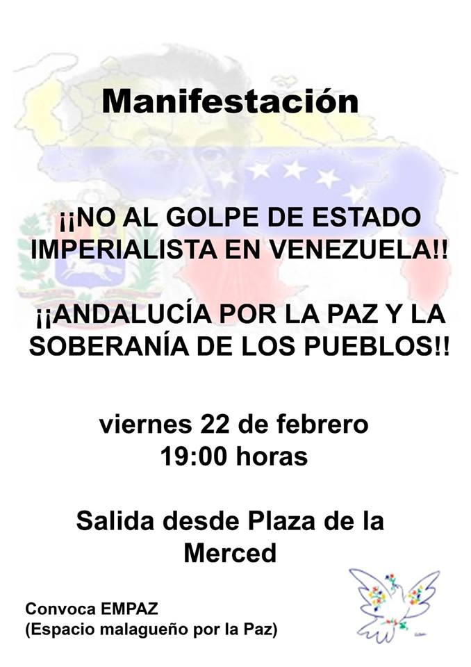 ¡NO AL GOLPE DE ESTADO IMPERIALISTA EN VENEZUELA! ¡ANDALUCÍA POR LA PAZ Y SOBERANÍA DE LOS PUEBLOS!