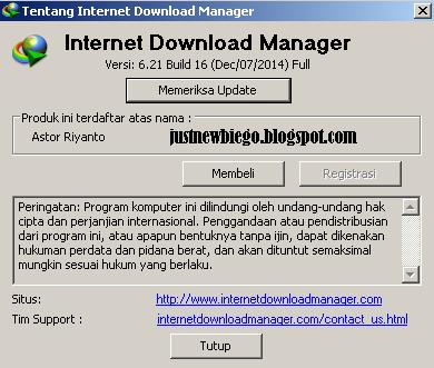 Internet Download manager 6.21 Build 16 update terbaru