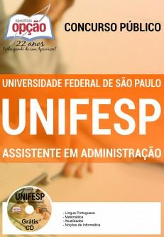 Novo Concurso UNIFESP ASSISTENTE EM ADMINISTRAÇÃO 2016
