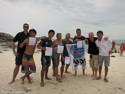 PADI IE on Koh Samui, Thailand for June 2015 was very successful