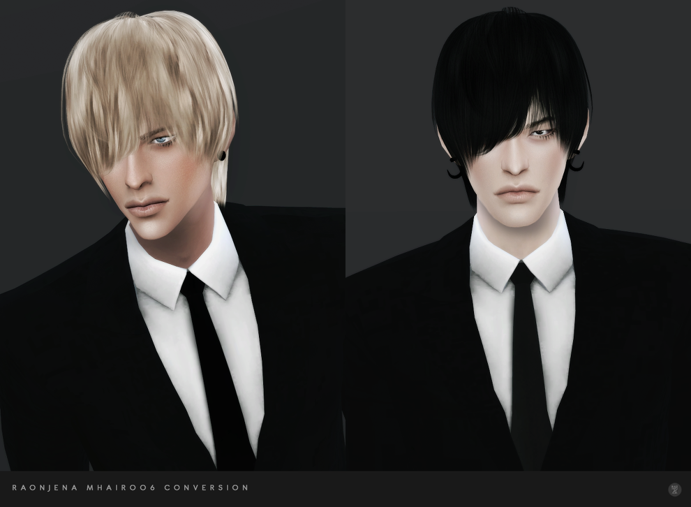 My Sims 4 Blog Raonjena Male Hair 06 Conversion By Blackle