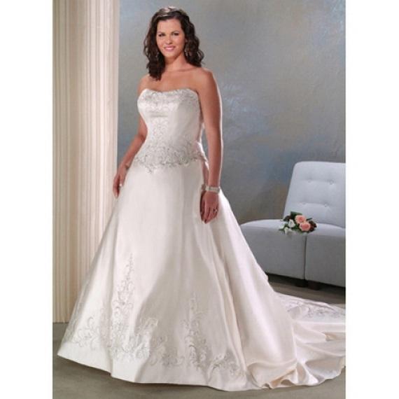 Wedding decoration casual plus size wedding dress for Casual wedding dresses for plus size