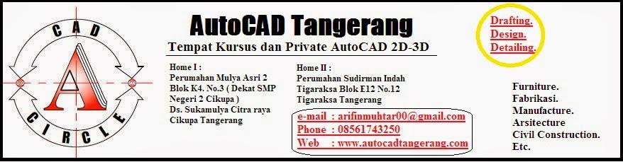 Jasa Kursus dan Private AutoCAD di Tangerang.