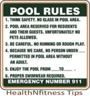 Healthy Body Tips Safety Rules To Take Bath In The Pool