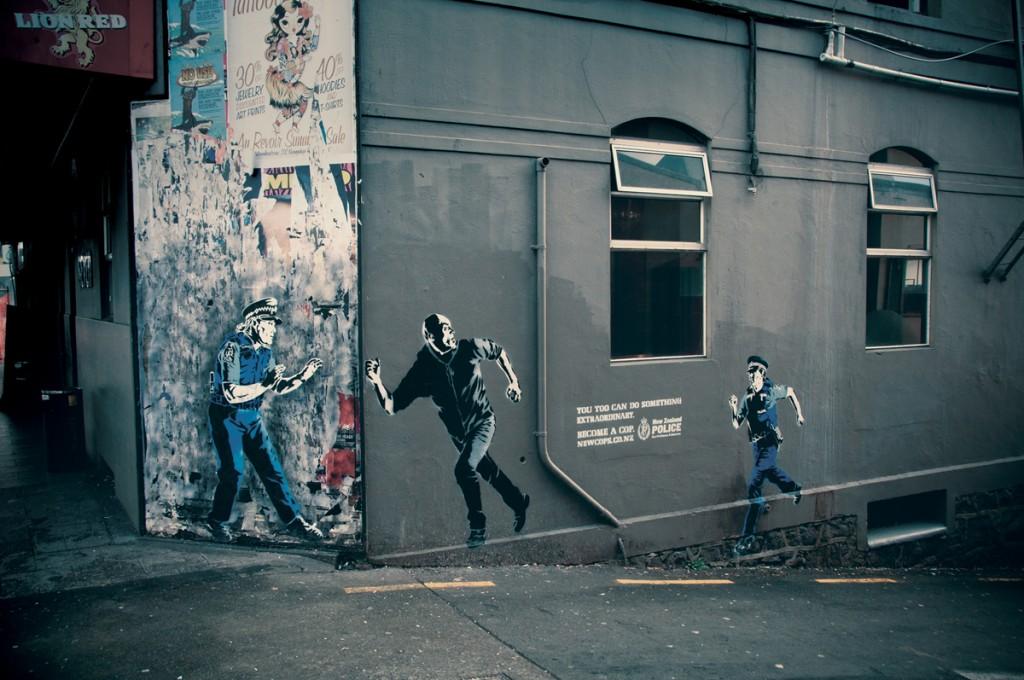 Mystery Fanfare: NEW ZEALAND ADVERTISING STREET ART