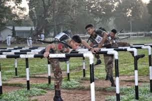 OTA Gentleman Cadets getting training