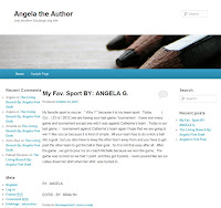 A screenshot of Angela's blog.