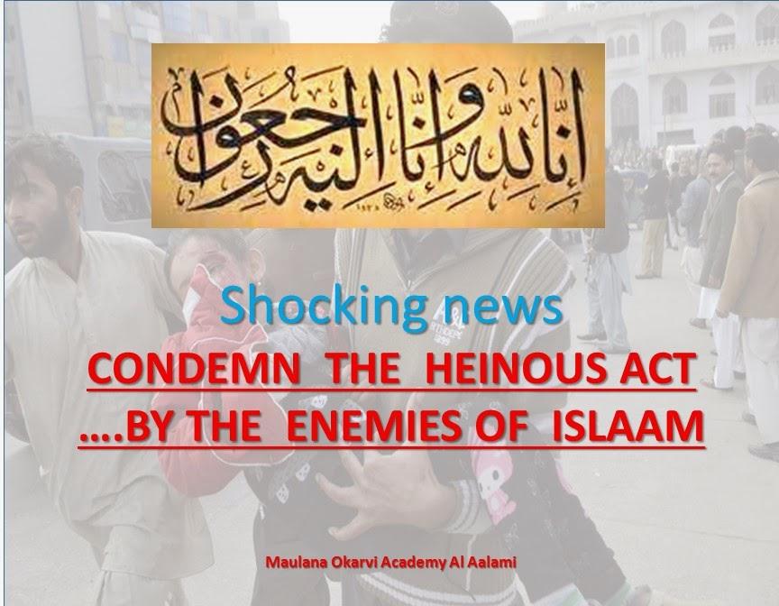 condemn the attack academy peshawar tragedy allama kokab noorani okarvi