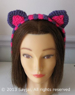 2000 Free Amigurumi Patterns: Free Cheshire Cat hairband ...