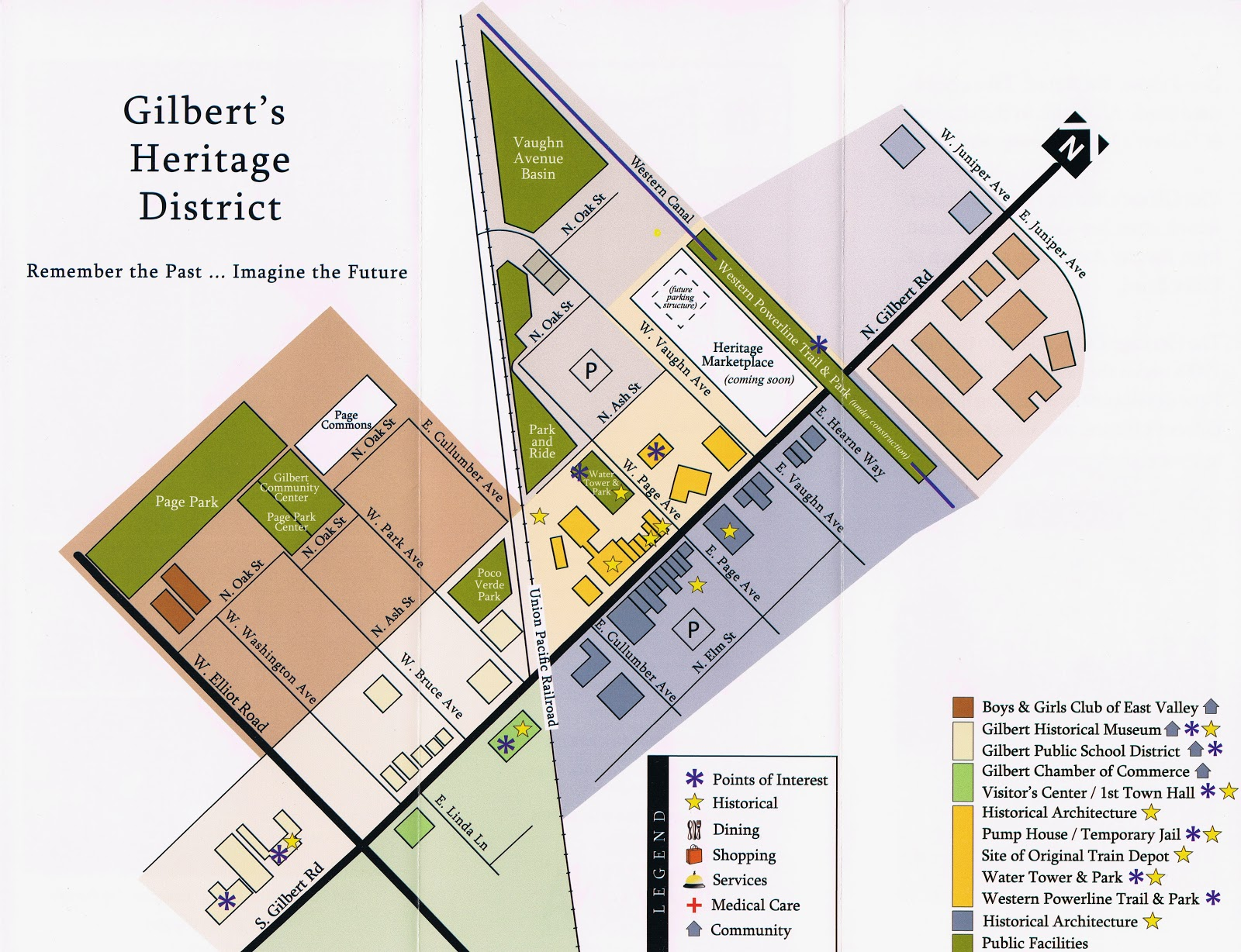 Downtown Gilbert Heritage District Map