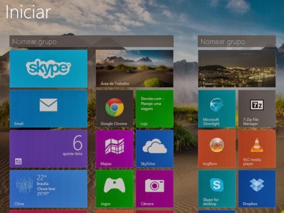 Nomeando os grupos de aplicativos no Windows 8 - 580x435