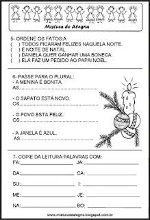 Avaliação de português 4º bimestre natal