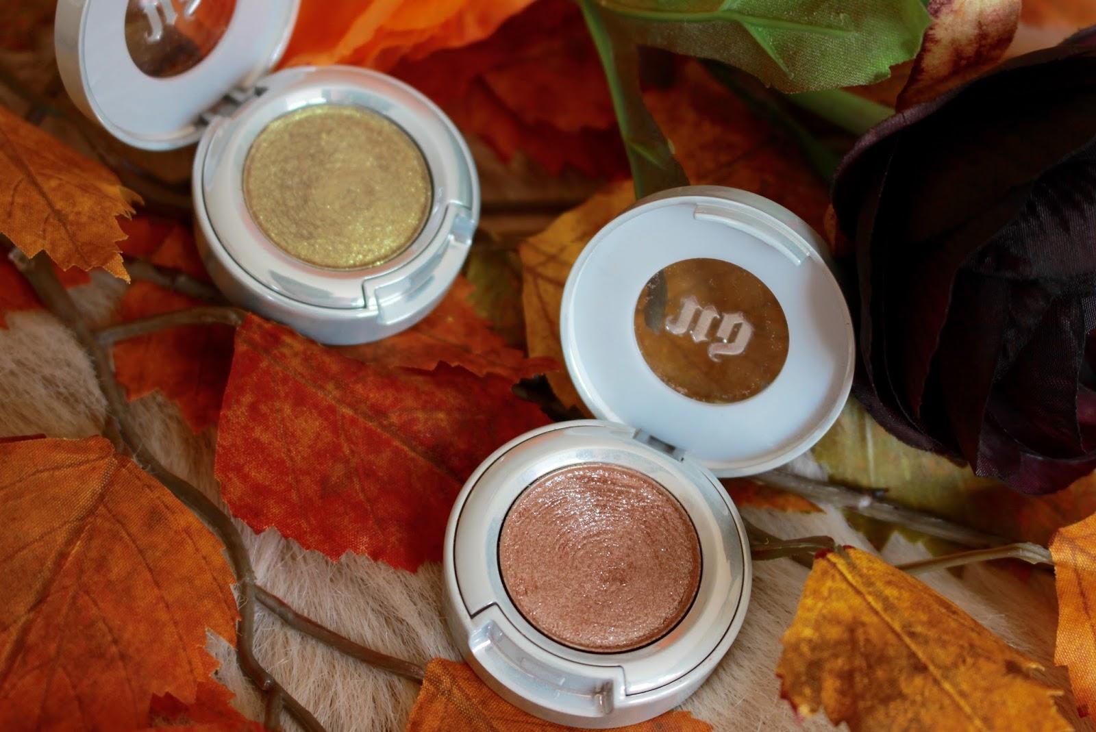 Urban Decay Glitter Eyeshadow Review Autumn Fall