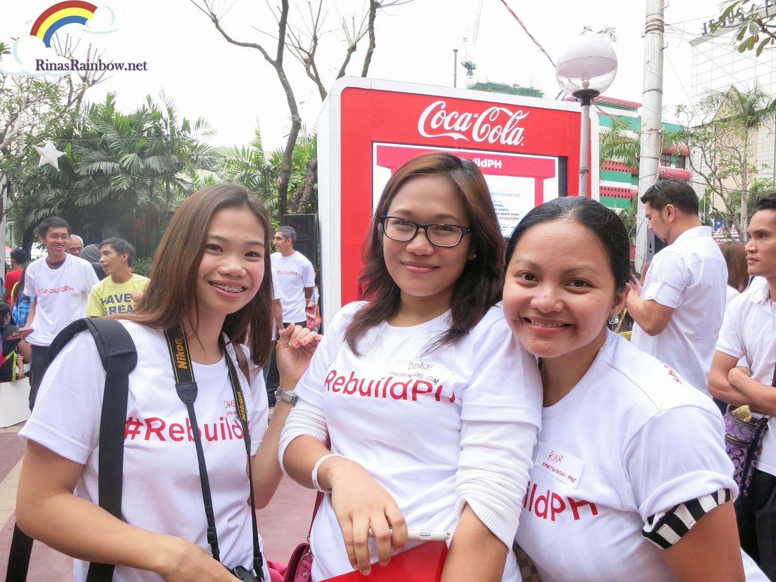 coca cola rebuildPH araneta bloggers