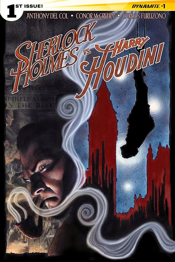 Sherlock Holmes vs. Harry Houdin cover 1 - Worley- Dynamite Comics