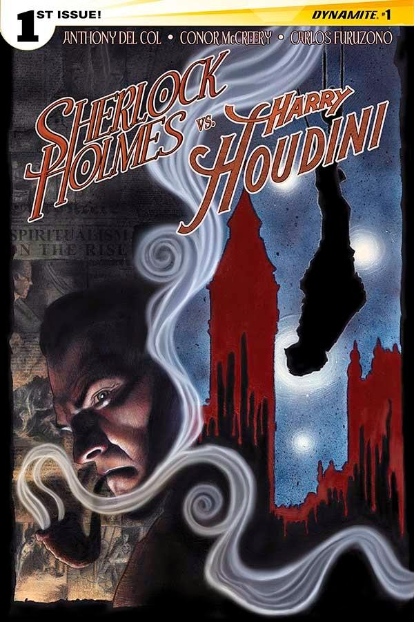 Sherlock Holmes vs. Harry Houdin cover 1 - Worley- Dynamite Comics