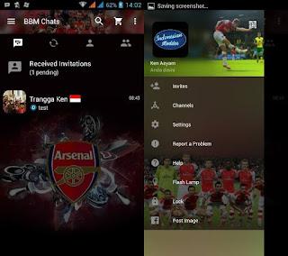 BBM Mod Tema Sepak Bola Arsenal Versi 2.12.0.9 apk (Clone)
