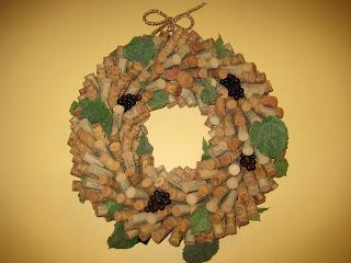 Navidad, Decoración, Coronas de Corcho