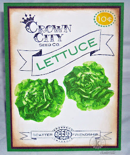 Kitchen Sink Stamps Multi Step Lettuce/Seed Packet