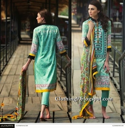 Mahnoor Lawn 2015 by AlZohaib